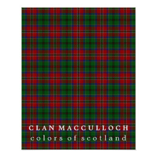 Clan MacCulloch Colors of Scotland Tartan Poster