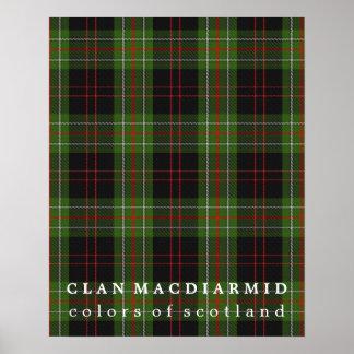 Clan MacDiarmid Colors of Scotland Tartan Poster