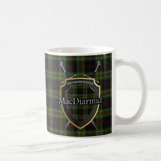 Clan MacDiarmid Tartan Shield Crossed Swords Coffee Mug