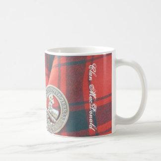 Clan MacDonald Badge & Tartan Coffee Mug