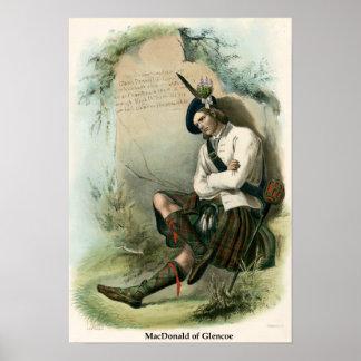 Clan MacDonald de Glencoe Póster