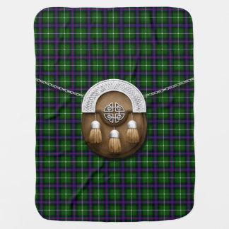 Clan MacDonald de las islas tartán y escarcela de Manta De Bebé