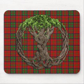 Clan MacDonald del tartán de Glencoe y del árbol c Mousepads