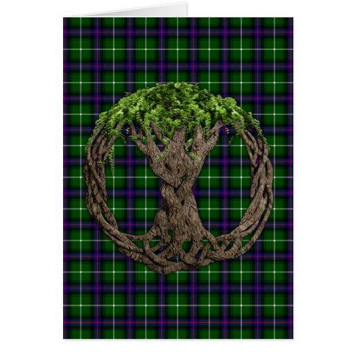 Clan MacDonald del tartán de las islas y del árbol Tarjetas