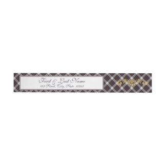Clan MacDonald Dress Tartan & Thistle Wrap Label 1