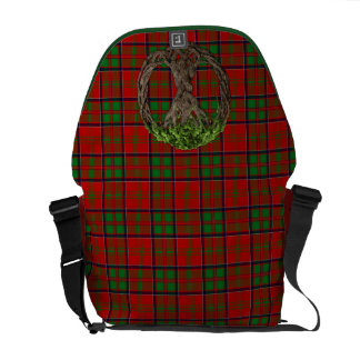 Clan MacDonald of Glencoe Tartan And Celtic Tree Courier Bag