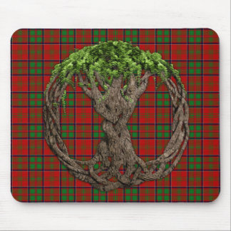 Clan MacDonald of Glencoe Tartan And Celtic Tree Mouse Pad