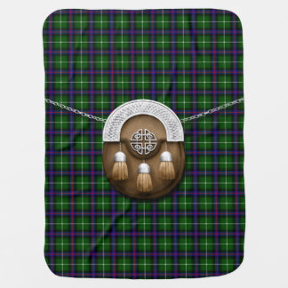 Clan MacDonald Of The Isles Tartan And Sporran Stroller Blanket