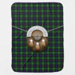 Clan MacDonald Of The Isles Tartan And Sporran Baby Blankets