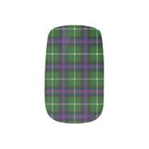 Clan MacDonald Of The Isles Tartan Minx Nail Art