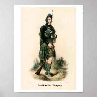 Clan MacDonell del gorro escocés Póster