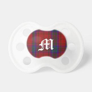 Clan MacDougal Tartan Plaid Monogram Baby Pacifier