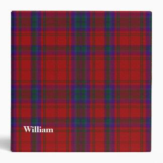 Clan MacDougall Custom Tartan Plaid Binder