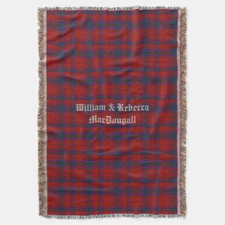 Clan MacDougall Tartan Plaid Custom Throw Blanket