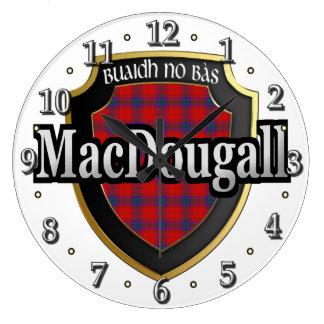 Clan MacDougall Tartan Scottish Dream Clock