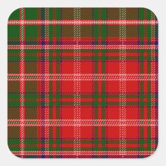 Clan MacDougall Tartan Square Sticker