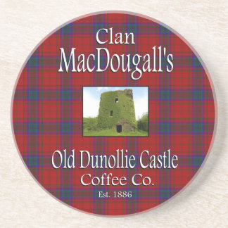 Clan MacDougall's Old Dunollie Castle Coffee Co. Coaster