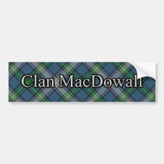 Clan MacDowall Scottish Tartan Bumper Sticker