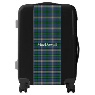 Clan MacDowall Tartan Customize Your Name Luggage