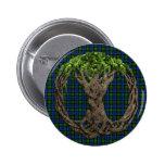Clan MacEwan Tartan And Celtic Tree Of Life Buttons