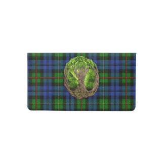 Clan MacEwan Tartan And Celtic Tree Of Life Checkbook Cover