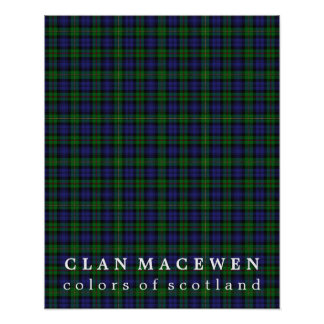 Clan MacEwen Colors of Scotland Tartan Poster