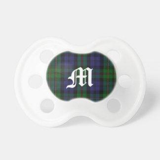 Clan MacEwen Tartan Plaid Monogram Baby Pacifier
