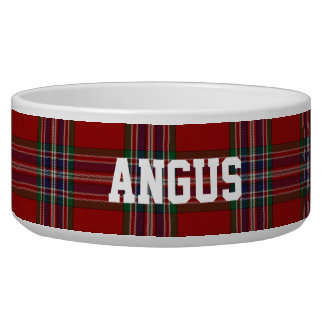 Clan MacFarlane Custom Tartan Plaid Pet Bowl