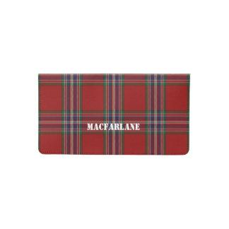 Clan MacFarlane Plaid Custom Check Book Cover