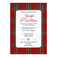 Clan MacFarlane Tartan Plaid Wedding Invitation