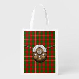 Clan MacFie Tartan And Sporran Reusable Grocery Bags