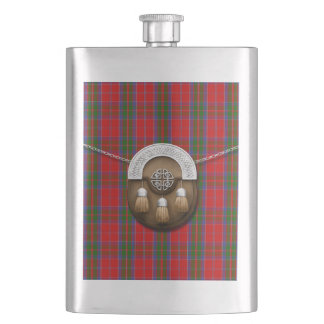 Clan MacGillivray Tartan And Sporran Hip Flask