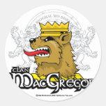 Clan MacGregor Pegatina Redonda