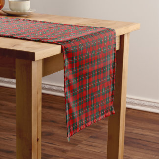 Clan MacGregor Red and Forest Green Tartan Short Table Runner