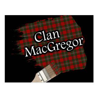 Clan MacGregor Scottish Tartan Paint Brush Postcard