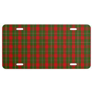 Clan MacGregor Tartan License Plate