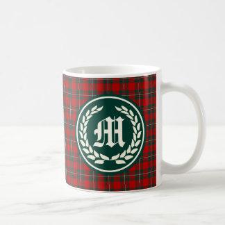 Clan MacGregor Tartan Monogram Classic White Coffee Mug