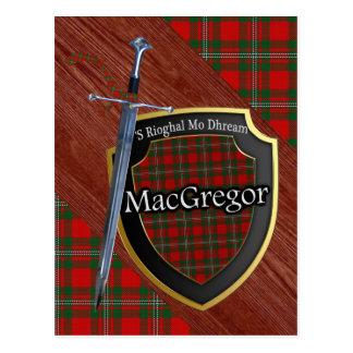 Clan MacGregor Tartan Sword & Shield Postcard