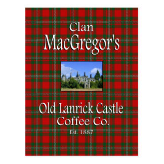 Clan MacGregor's Old Lanrick Castle Coffee Co. Postcard