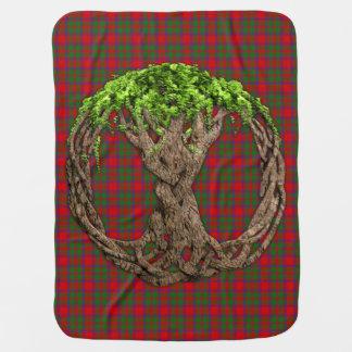 Clan MacIntosh Tartan And Celtic Tree Of Life Stroller Blanket