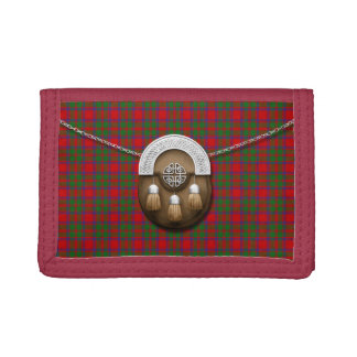Clan MacIntosh Tartan And Sporran Tri-fold Wallets