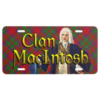 Clan MacIntosh Tartan Dream License Plate