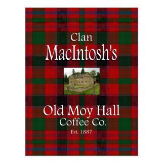 Clan MacIntosh's Old Moy Hall Coffee Co. Postcard