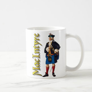 Clan MacIntyre Escocia vieja Taza Básica Blanca