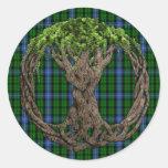 Clan MacIntyre Tartan And Celtic Tree Of Life Stickers