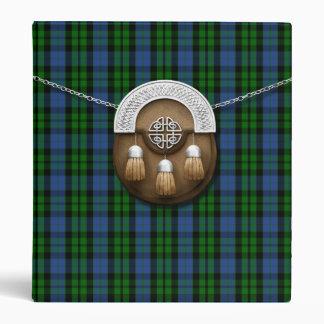 Clan MacKay Tartan And Sporran 3 Ring Binder