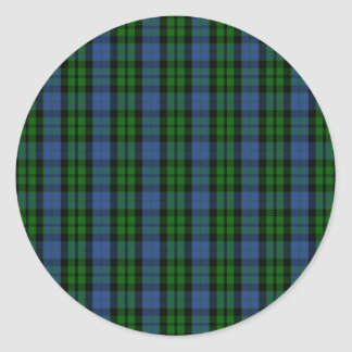 Clan MacKay Tartan Round Stickers