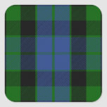 Clan MacKay Tartan Square Sticker