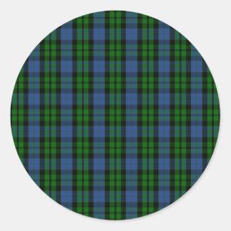 Clan MacKay Tartan Classic Round Sticker