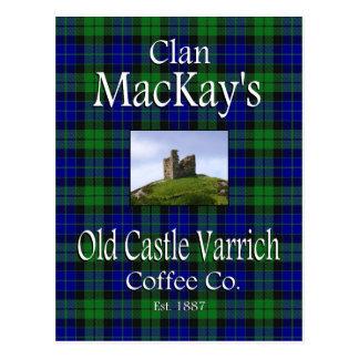 Clan MacKay's Old Castle Varrich Coffee Co. Postcard
